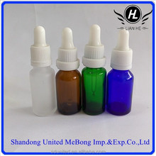 vial 15ml amber/green/blue/clear essential oil glass bottle with child proof dropper