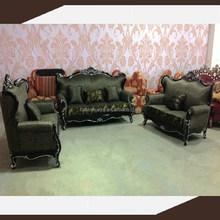 New hot sale antique Wooden sofa set design lowest price sofa -833