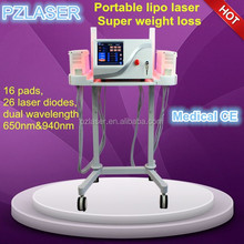 2-6 Inches Loss!!!super 16 Pads Dual Lipo Laser Machine For Fast Weight Loss Hot In Usa