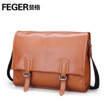 FEGER Multi-purpose Adjustable Top Quality Genuine Cow Leather Business Men's Messenger Bag