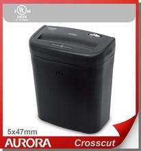 Aurora AS610C Plastic Paper Shredder, 6 sheet (A4) cross cut 4x47mm, Light Duty Shreding Office equipment for Home & Office