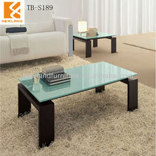 Newland furniture factory modern tempered antique glass top tea table TB-S189