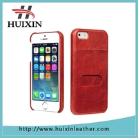 Genuine leather case full grain leather back cover for Apple iPhone