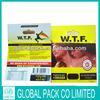 Custom design zencense W.T.F potpourri smoking herbal incense bag