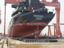 inflatable rubber ship launching airbag for barge