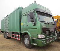 Low price sinotruk howo 6x4 336hp van cargo truck for sale