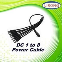 9 in 1 2.5mm 2.1mm DC Power Splitter Adaptor Cable for LED Light Lamp Strip