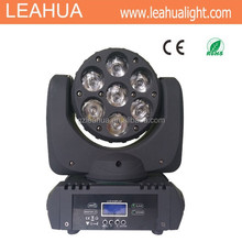 4 IN1 RGBW 7x12W LED Beam & Wash Moving Head Light DJ Show Stage Lighting