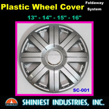 Incredible Low-Cost Plastic 15 inch Universal Wheel Covers for Car Wheels in silver color Model SC-001