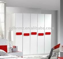 bedroom furniture with modern designed 5-door wardrobe