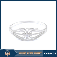 new products value pure 925 sterling silver square shaped bangle made in china