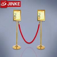 Stainless Steel Barrier Gate Queue Pole Stanchion