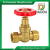 taizhou manufacturer low price customized 1/2 inch 600 wog forged brass threaded non rising stem gate valve
