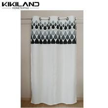 Kikiland latest design water-drop pattern custom printing window curtains