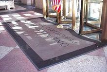 fashion design customized rubber entrance rug
