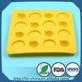 Molde do bolo colorido de plástico durável, em forma de animais do bolo do silicone molde