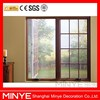 wooden color aluminum hinge window with grill design