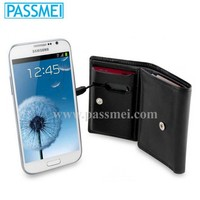 europe style thin wallet, oem wallet,cell phone power bank case