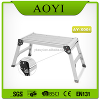 aluminum trolley step ladder bench