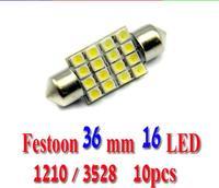 led light Festoon Dome light16 smd 3528 36mm Car Reading License plate Luggage Car Interior light