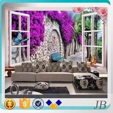 living room interior wall tile porcelain with flower design