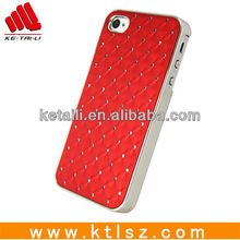 Luxury rhinestone cell phone cover for iphone 5s
