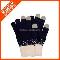 2015 Custom acrylic knitted fan football/glove