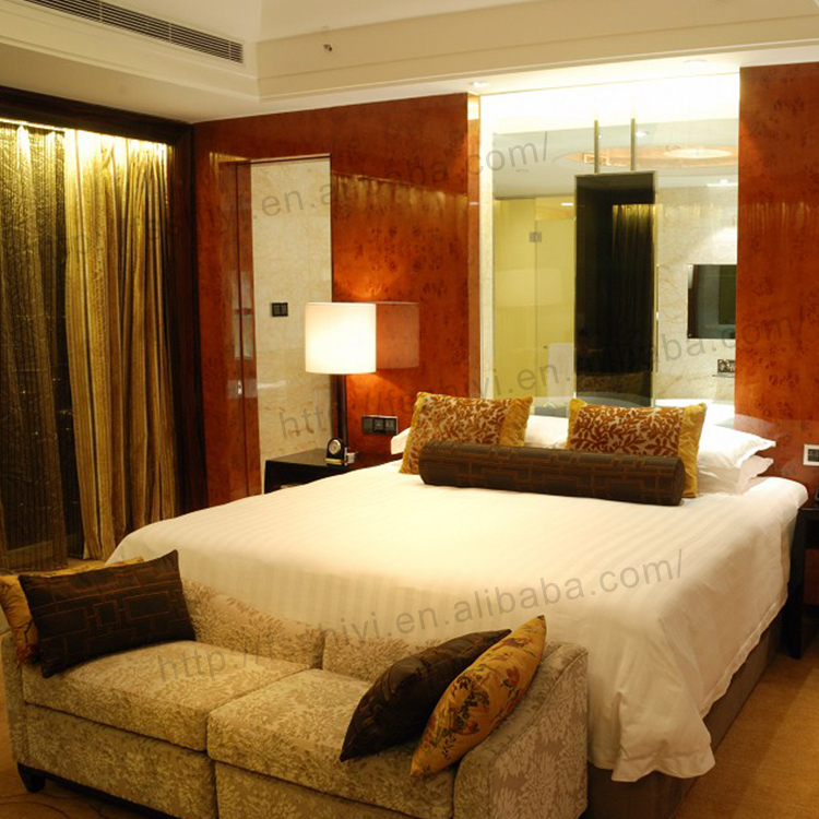 5 Stars Hotel Comfortable Indian Modern Furniture Bedroom Beds