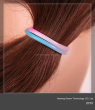 2015 delicate silicone hair band/bracelets
