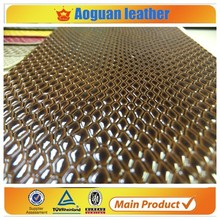 2016 fashion and newest style of raw snake skin pattern for embossed pu synthetic leather for shoe