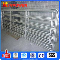 Galvanized Corral Fence pipe hot dipped galvanized horse fence panels