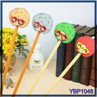 Koeam style stationery cheap wholesale funny girls design cute function wooden ballpoint pen