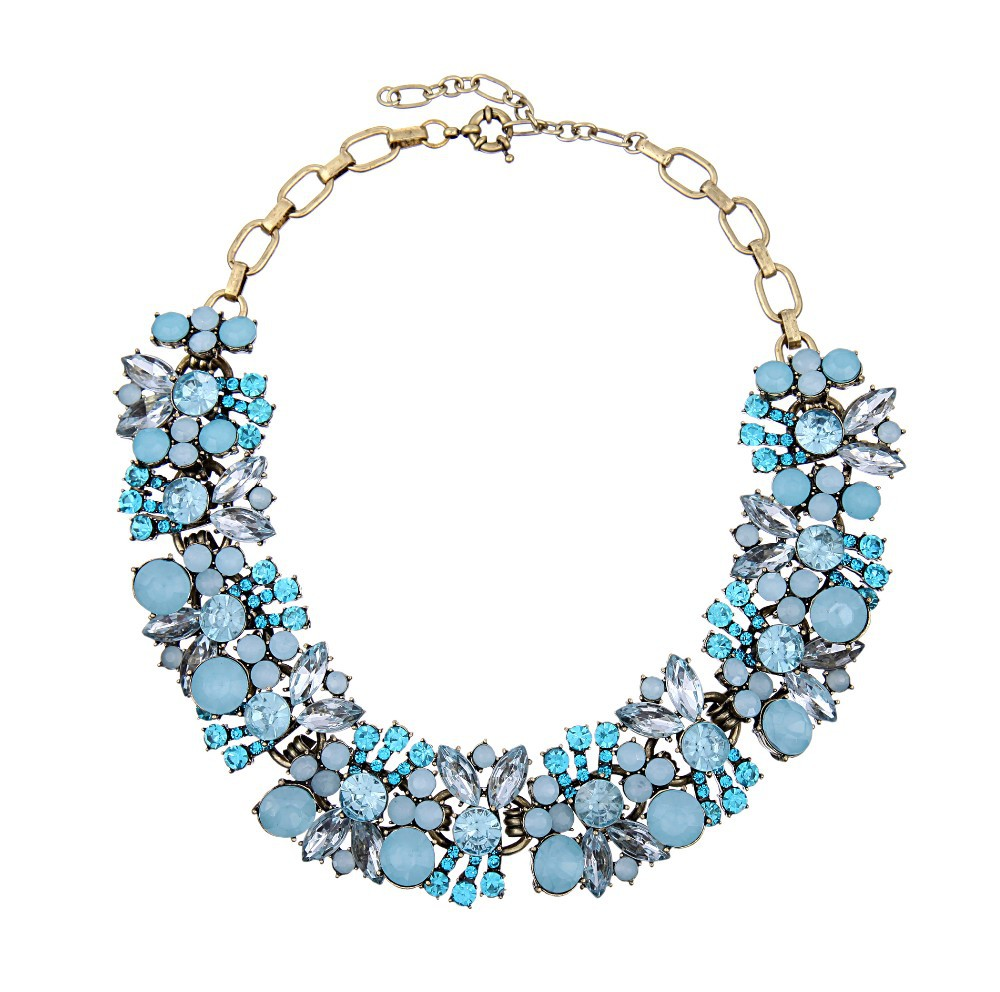 Noble Crystal Statement Necklace,High Quality Statement ...