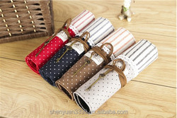 National Feiertag Day Best gift New Canvas Holder Wrap Roll Up Stationery Pen Brushes Makeup Pencil Case Pouch