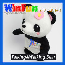 Plush Talking And Walking Panda Toys Battery Operated Kid Toy