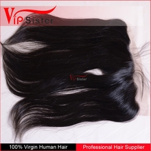 2015 New style Breathable and comfortable brazilian free part straight silk base lace frontal closure
