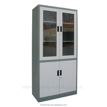 Glass and Steel Filing Cabinet/Filing Cabinet/Office Furniture