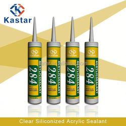clear siliconized acrylic polymer chemicals high quality,acrylic sealant