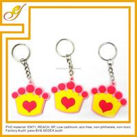 souvenir metal 3d pvc colorful key ring