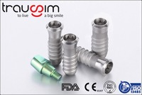 CE and FDA Proved Titanium Disposable Straight Abutments, Healing Screws for Dental Implants