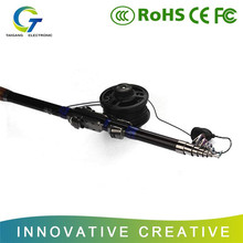 Carbon rod portable submergible wired fishing rod pen