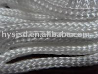 white colour braided hollow packing nylon rope