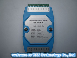 DS18B20 multi-channel / 8-channel temperature logger module transmitter module monitoring module can be connected to PLC