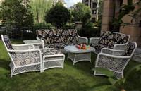 2015 New design rattan/wicker sofa 6pcs white wicker outdoor furniture