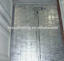 Q235 Ringlock Scaffolding Steel Planks Catwalk for Construction Use