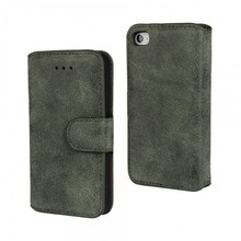 Professional case for iPhone 4S PU Leather card holders matte Stitch Kickstand cover made in china