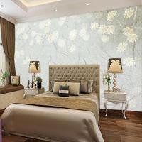 Modern style light color vinyl wallpaper flower wallpaper for home