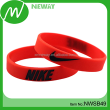 Own Brand Cheap Custom Silicone Red Bracelets