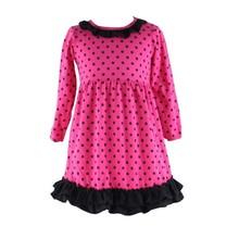 Wholesale baby girls 2015 long sleeve fall winter cotton polka dot fabric ruffle babeeni kids wholesale smocked dresses