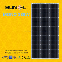 A grade 185Wp PV solar module with 72pcs of 5 inch cells